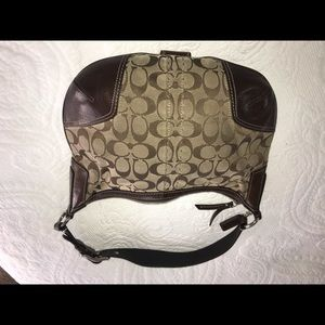 Coach Bags - Coach Brown leather and fabric purse
